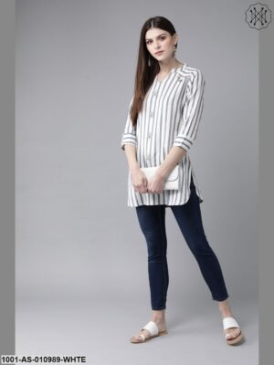 Off White Striped Tunic