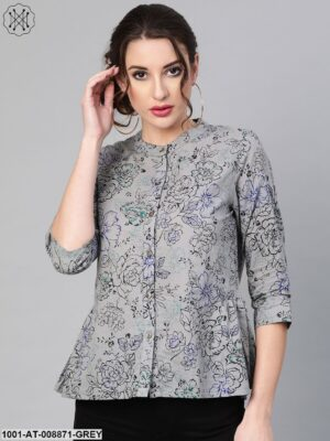 Grey Printed Tunic