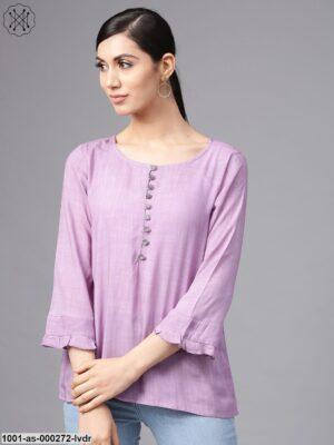 Lavender Solid Tunic