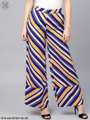 Blue & Yellow Stripe Pants