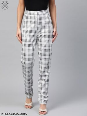 Black & Grey Big Check Tapered Pant