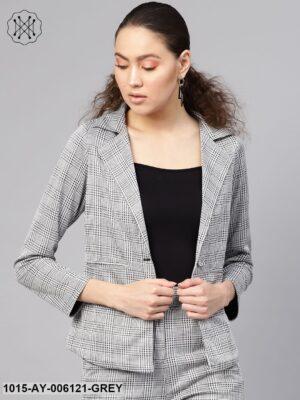 Black & Grey Check Blazer