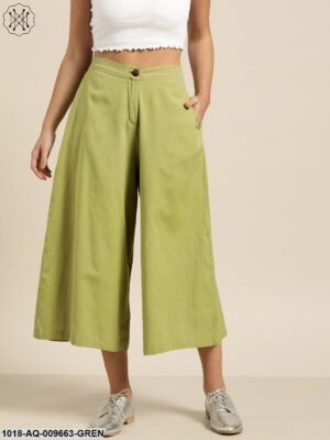 Green Flared Pants