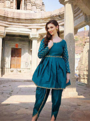 Designer Embroidery Dhoti Suit