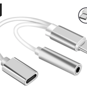 Mini Type-C To 3.5mm Earphone Audio Cable 2 In 1 Music Port Adapter