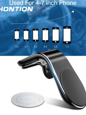 Phone Holder In Car Support Metal Magnetic Phone Air Vent Magnet Stand Mount Stand for Tablets Smartphones Suporte Telefone