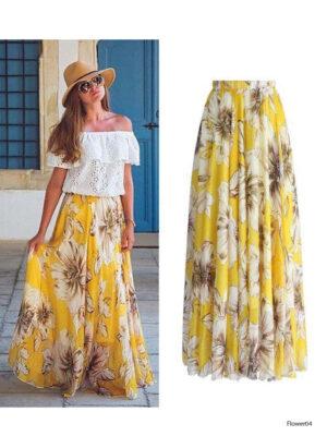 Flower04 Imported Soft  Skirt