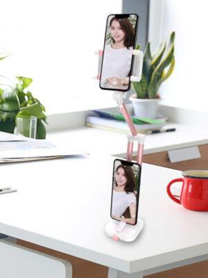 Lazy Mobile Phone Bracket Desktop Multi-function Telescopic Head Aluminum Alloy Folding 360° Rotation