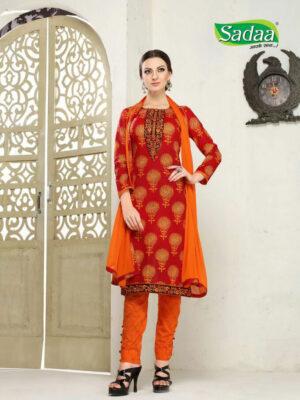 001 Red Designer Salwar Suit