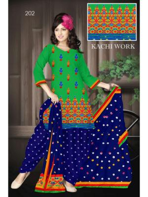 202Green Designer Exclusive Fancy Daily Wear Cotton Salwar Suit