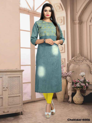 Chokidar4006 M Size Denim Kurti Collection