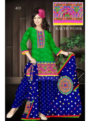 403Green Designer Exclusive Fancy Daily Wear Cotton Salwar Suit