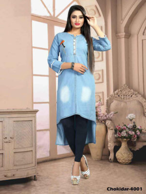 Chokidar4001 M Size Denim Kurti Collection