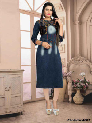Chokidar4002 M Size Denim Kurti Collection