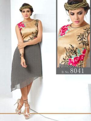 8041 Topaz Black Designer Stitched Kurti