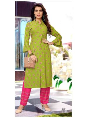 ClasicGold07 Kurti With Pant Collection