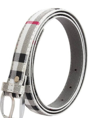 Classic Check Printed Casual Ladies Belt