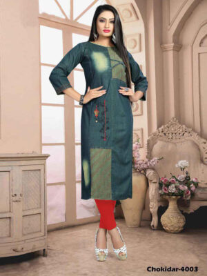 Chokidar4003 M Size Denim Kurti Collection