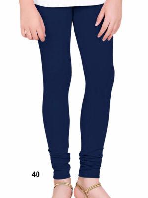 40 Dark Blue 4 Way Cotton Leggings