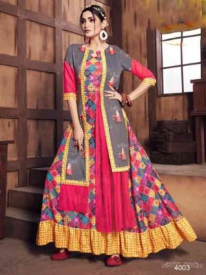 4003 Fancy Kurti With Digital Print Collection