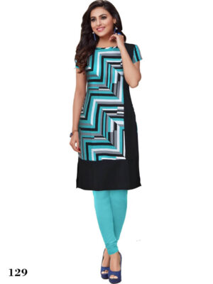 129 Sea Green Designer Party Wear S Size Stitched Kurti