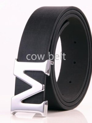 Fashion 2019 High Quality Men Luxury M Belts Mens Cowskin Leather Belt Brand Designer Belts for Men Belts Silver Buckle Free Shipping