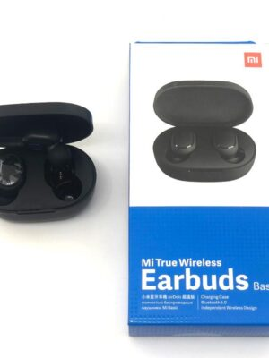 For Xiaomi Redmi Airdots TWS Wireless Earphone Global Handsfree Earbuds Voice Control Bluetooth 5.0 Noise Reduction Tap AI Control (Black)
