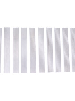 10 Pieces Heatsink Cooling Fin Radiator 20x6x150mm for SMD Led, PC Memory Stick