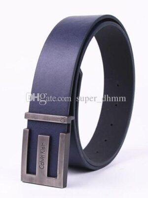 Men smooth buckle Brand logo high quality alloy fashion designers name brand luxuries men's belt famous Genuine leather