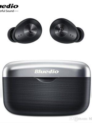 Bluedio Fi Bluetooth earphone TWS wireless earbuds waterproof Sports Headset Wireless Earphone in ear with charging box (Black)
