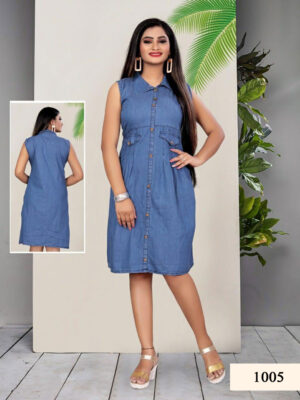 Botticelli Cotton Denim Kurti