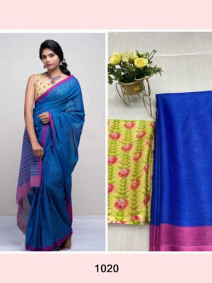 Blue Anushka Kota Silk Saree