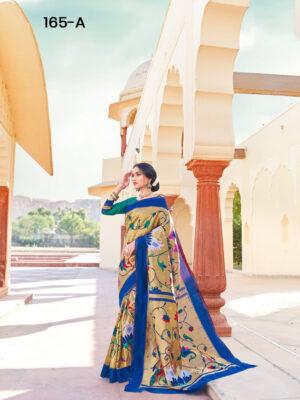 Blue Paithani Designer Saree