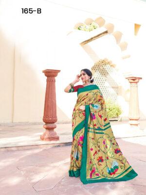 Peacock Green Paithani Designer Saree