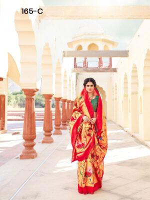Crimson Paithani Designer Saree