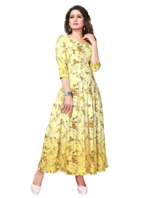 3102 Party Wear Rayon Gown With Digital Print